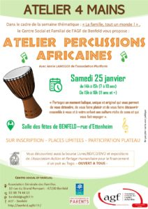 Atelier 4 mains – Percussions africaines