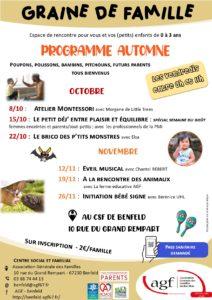 Graine de famille : Programme d'automne