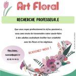 Recherche professeur.e Art Floral